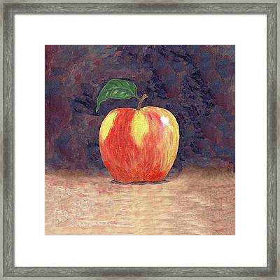 Duchess Apple Two Framed Print by Linda Mears