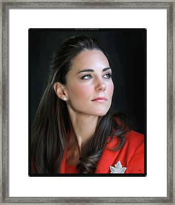 Duchess Of Cambridge Framed Print by Martin Bailey