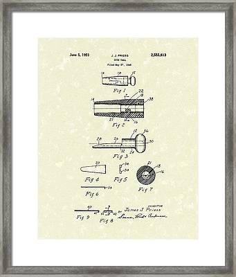 Duck Call 1951 Patent Art Framed Print by Prior Art Design