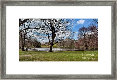 Duck Pond Haverford College Framed Print by Kay Pickens
