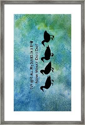 Ducks In A Row Framed Print by Jenny Armitage