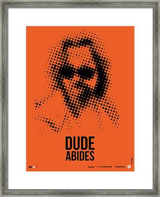 Dude Big Lebowski Poster Framed Print by Naxart Studio