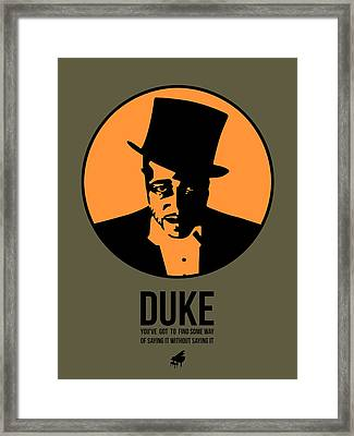 Dude Poster 3 Framed Print by Naxart Studio