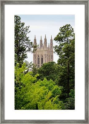 Duke Chapel Framed Print by Cynthia Guinn