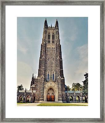 Duke Chapel Framed Print by Emily Kay
