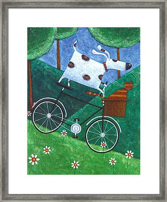 Dukes Bike Ride Framed Print by Peter Adderley