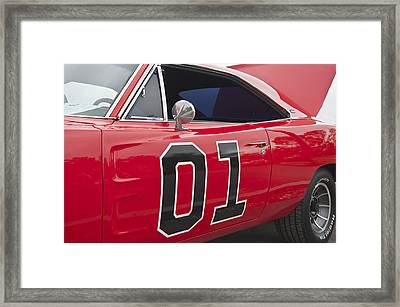 Dukes Of Hazard General Lee Framed Print by Glenn Gordon