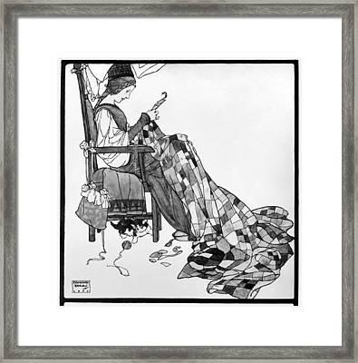 Dulac Patchwork Quilt Framed Print by Granger