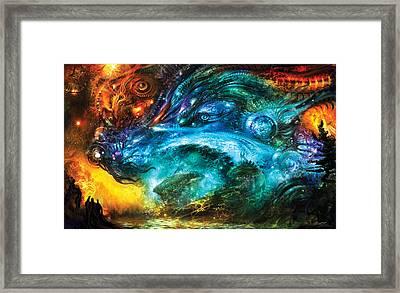 Dulcior Nocens Somnium Framed Print by Alex Ruiz