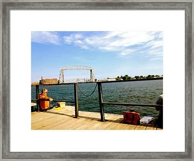 Duluth Docks Framed Print by Danielle  Broussard