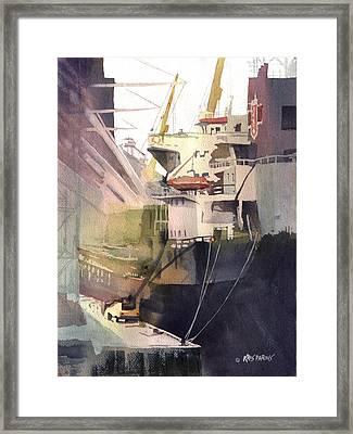 Duluth Harbor Framed Print by Kris Parins