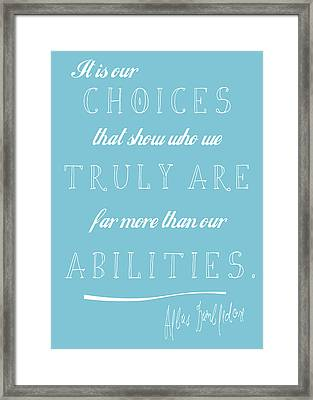 Dumbledore Blue Framed Print by The Sweet Drawer