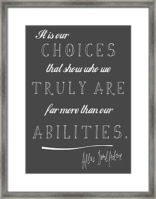 Dumbledore Chalkboard Framed Print by The Sweet Drawer