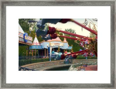 Dumbo Flying Elephants Fantasyland Signage Disneyland 01 Framed Print by Thomas Woolworth
