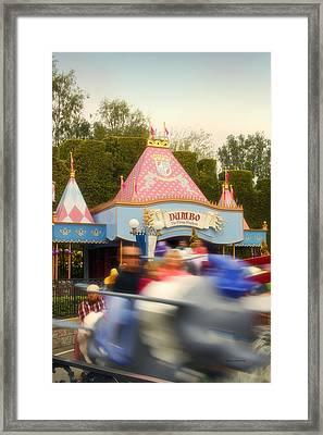 Dumbo Flying Elephants Fantasyland Signage Disneyland 02 Framed Print by Thomas Woolworth
