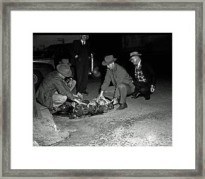 Dumping Whiskey In Mississippi 1951 Framed Print by Mountain Dreams