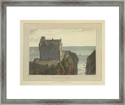 Dunbeath Castle In Caithness Framed Print by British Library