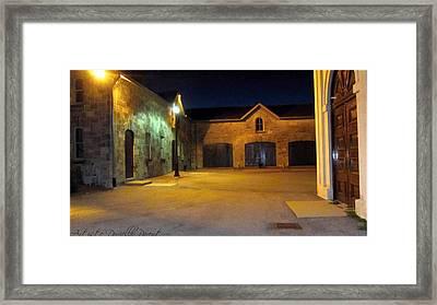 Dundurn Castle Coach House Courtyard Framed Print by Danielle  Parent