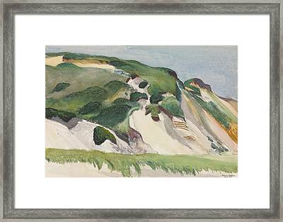 Dune At Truro Framed Print by Edward Hopper