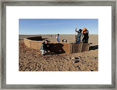 Dune Barrier Testing Framed Print by Thierry Berrod, Mona Lisa Production