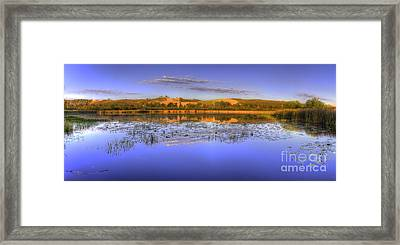 Dune Climb At Sunrise Framed Print by Twenty Two North Photography