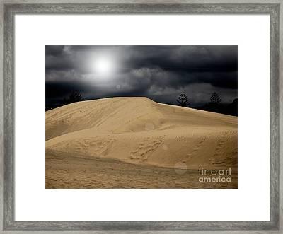 Dune Framed Print by Flow Fitzgerald