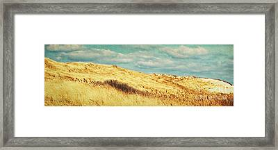 Dunes Of Amrum Framed Print by Angela Doelling AD DESIGN Photo and PhotoArt