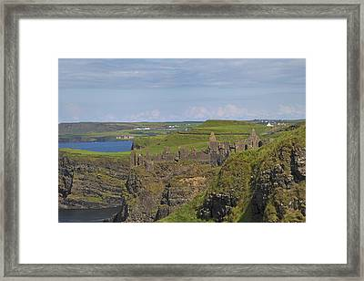 Dunluce Castle Ireland Framed Print by Betsy Knapp