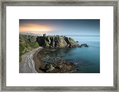 Dunnottar By Moonlight Framed Print by Dave Bowman