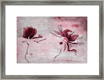 Duo Daisies - 43t3red Framed Print by Variance Collections