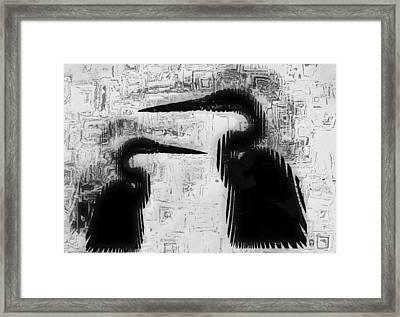 Duo Framed Print by Jack Zulli