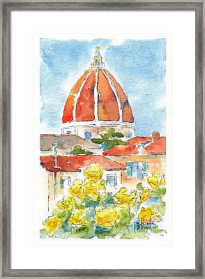 Duomo From Il Villino Framed Print by Pat Katz