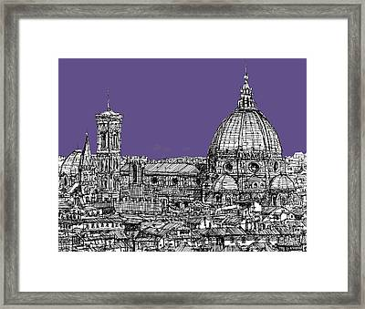 Duomo In Lilac Framed Print by Adendorff Design