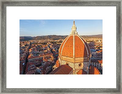 Duomo Santa Maria Del Fiore And Skyline Framed Print by Peter Adams