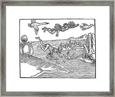 Durer Daedalus & Icarus Framed Print by Granger