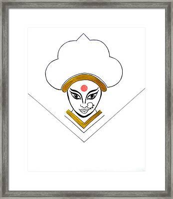 Durga Maa Framed Print by Kruti Shah