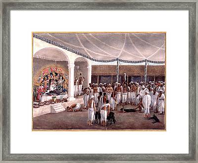 Durga Puja Framed Print by British Library