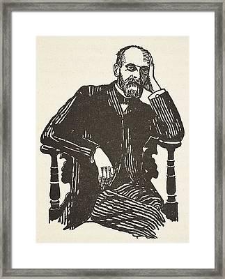 Emile Durkheim Framed Print by French School