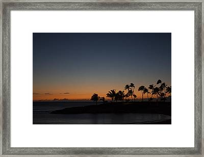 Dusk At Ko Olina Framed Print by Scott Terna