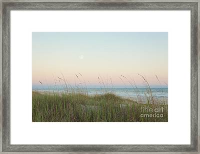 Dusk At The Beach Framed Print by Kay Pickens