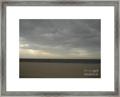 Dusk Beach Walk  Framed Print by Joseph Baril