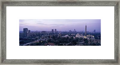 Dusk Cairo Gezira Island Egypt Framed Print by Panoramic Images