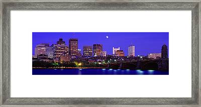 Dusk Charles River Boston Ma Usa Framed Print by Panoramic Images