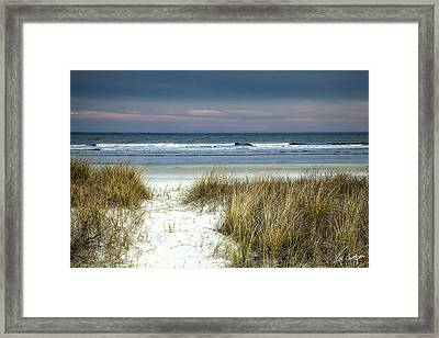 Dusk In The Dunes Framed Print by Phill Doherty