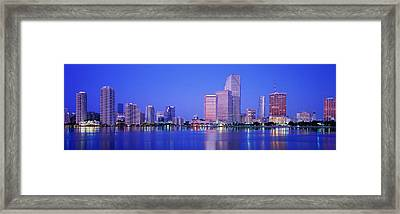 Dusk, Miami Florida, Usa Framed Print by Panoramic Images