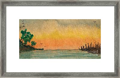 Dusk On The Inlet Framed Print by R Kyllo