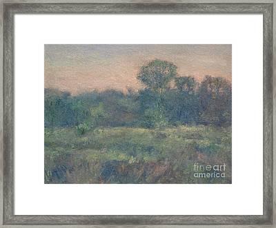 Dusk On The Meadow Framed Print by Gregory Arnett