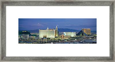 Dusk The Strip Las Vegas Nv Framed Print by Panoramic Images