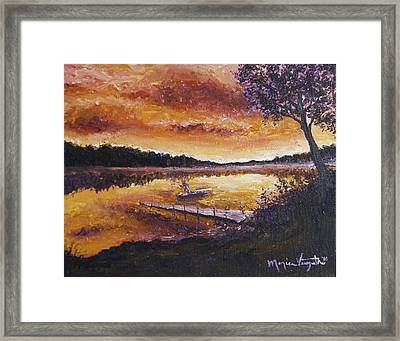 Dusky Shores Framed Print by Monica Veraguth