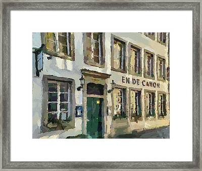 Dusseldorf Old Town Street 3 Framed Print by Yury Malkov